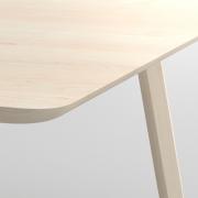 Designer Holztisch  AETAS Maßgefertigt in Amerikanischer Ahorn massiv, gekalkt von vitamin design