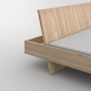 Design Massivholzbett  SOMNIA Maßgefertigt in Eiche massiv, gekalkt von vitamin design