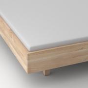 Massives Holzbett  QUADRA FRAME Maßgefertigt in Eiche massiv, gekalkt von vitamin design