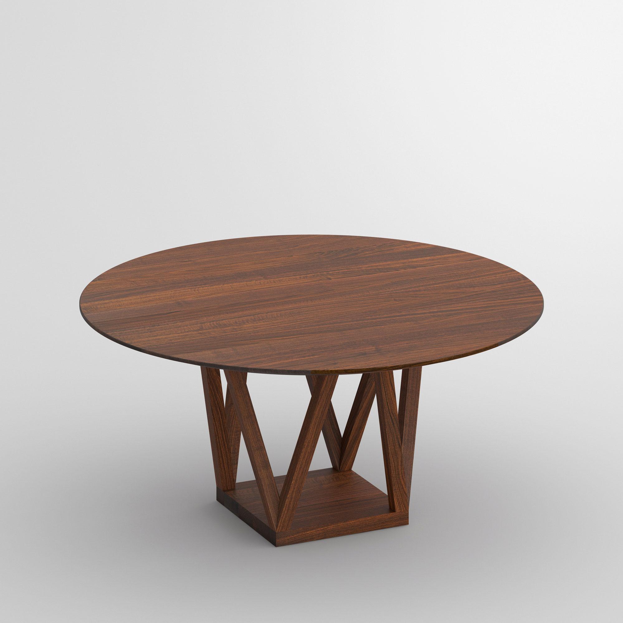 Runder Design Tisch CREO Maßgefertigt aus Massivholz von MODUM