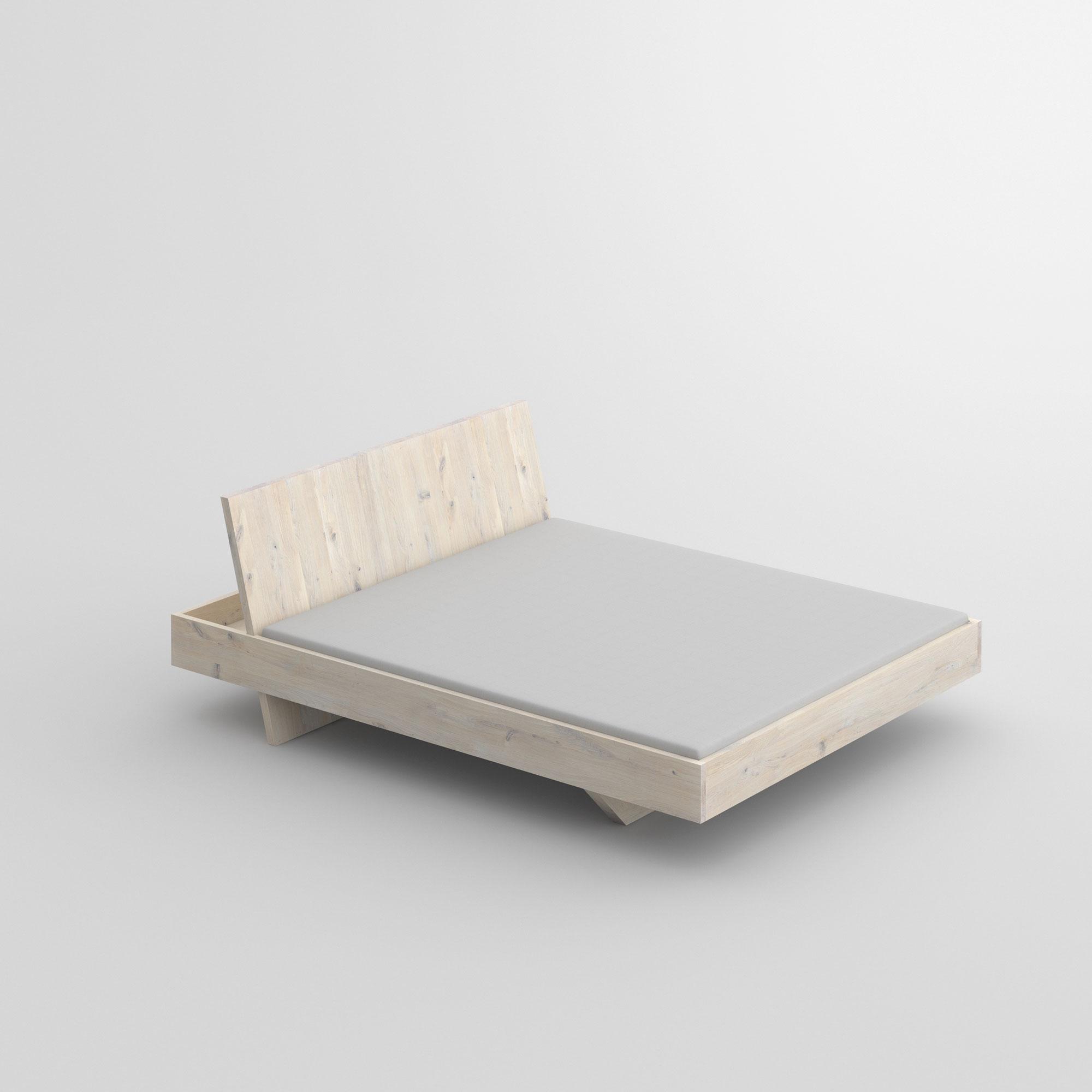 Design Massivholzbett SOMNIA Maßgefertigt aus Massivholz von vitamin design