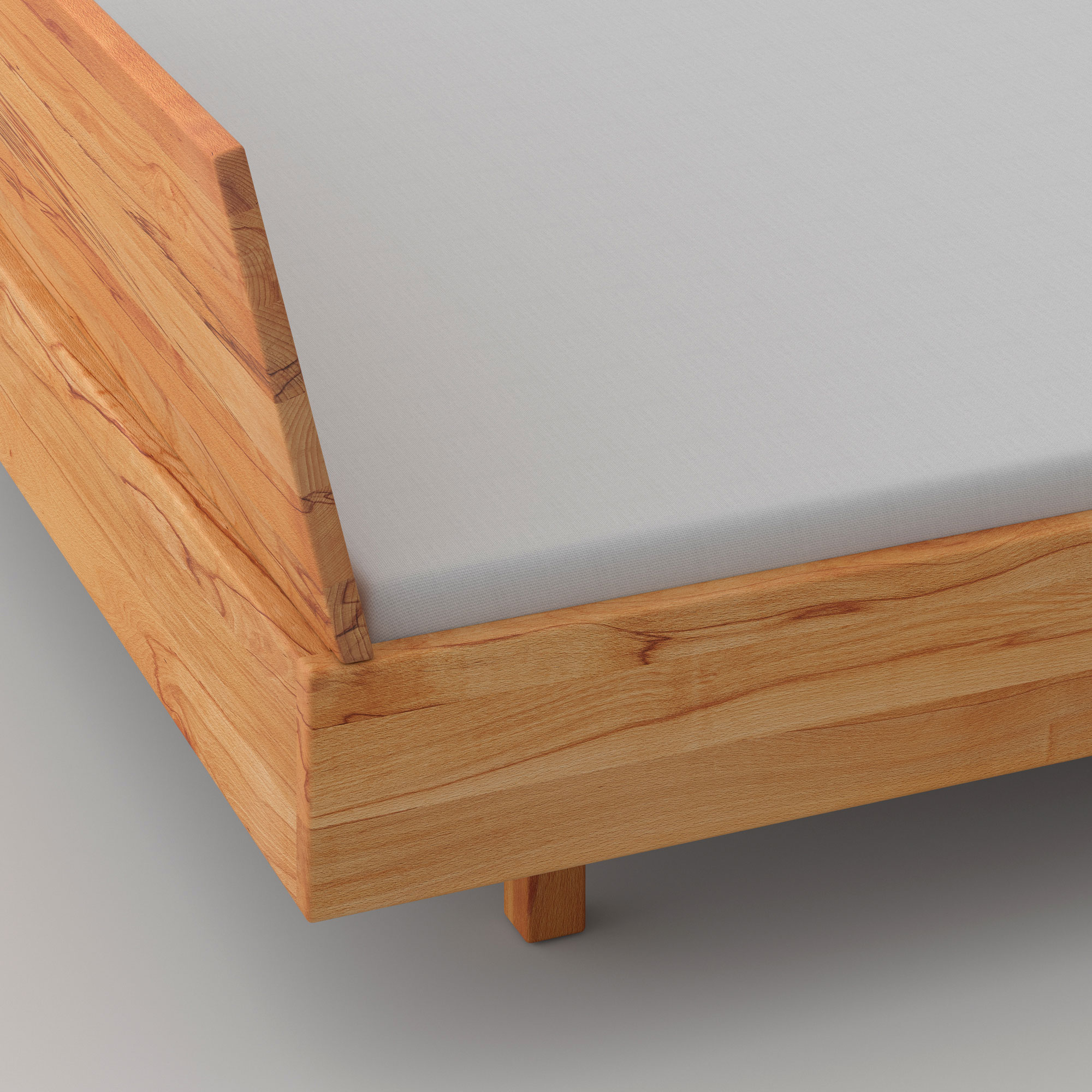 Solid Wooden Bed QUADRA SOFT custom made in solid wood by MODUM