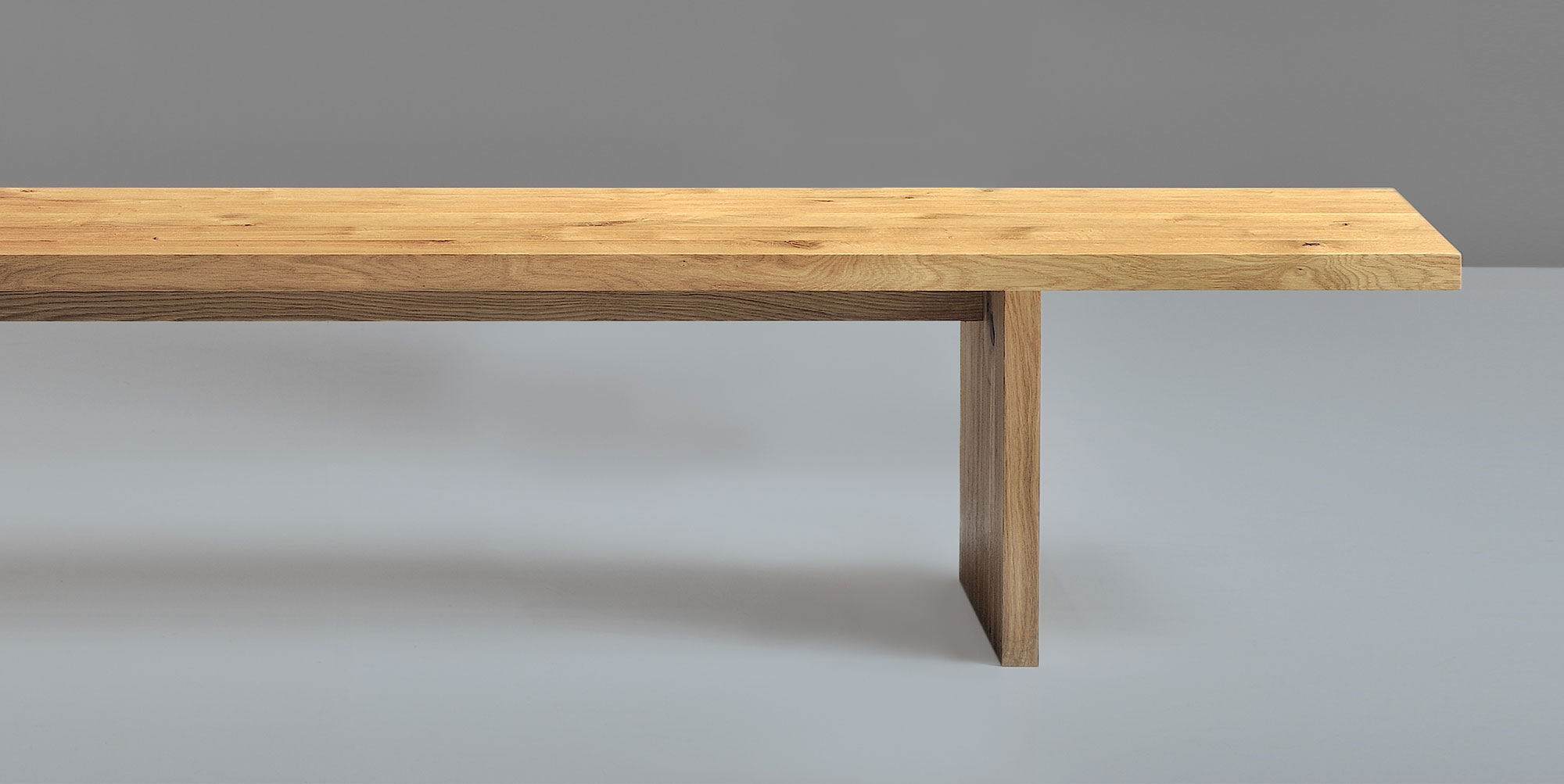 Solid wood bench saga vitamin design for Vitamin design tisch living