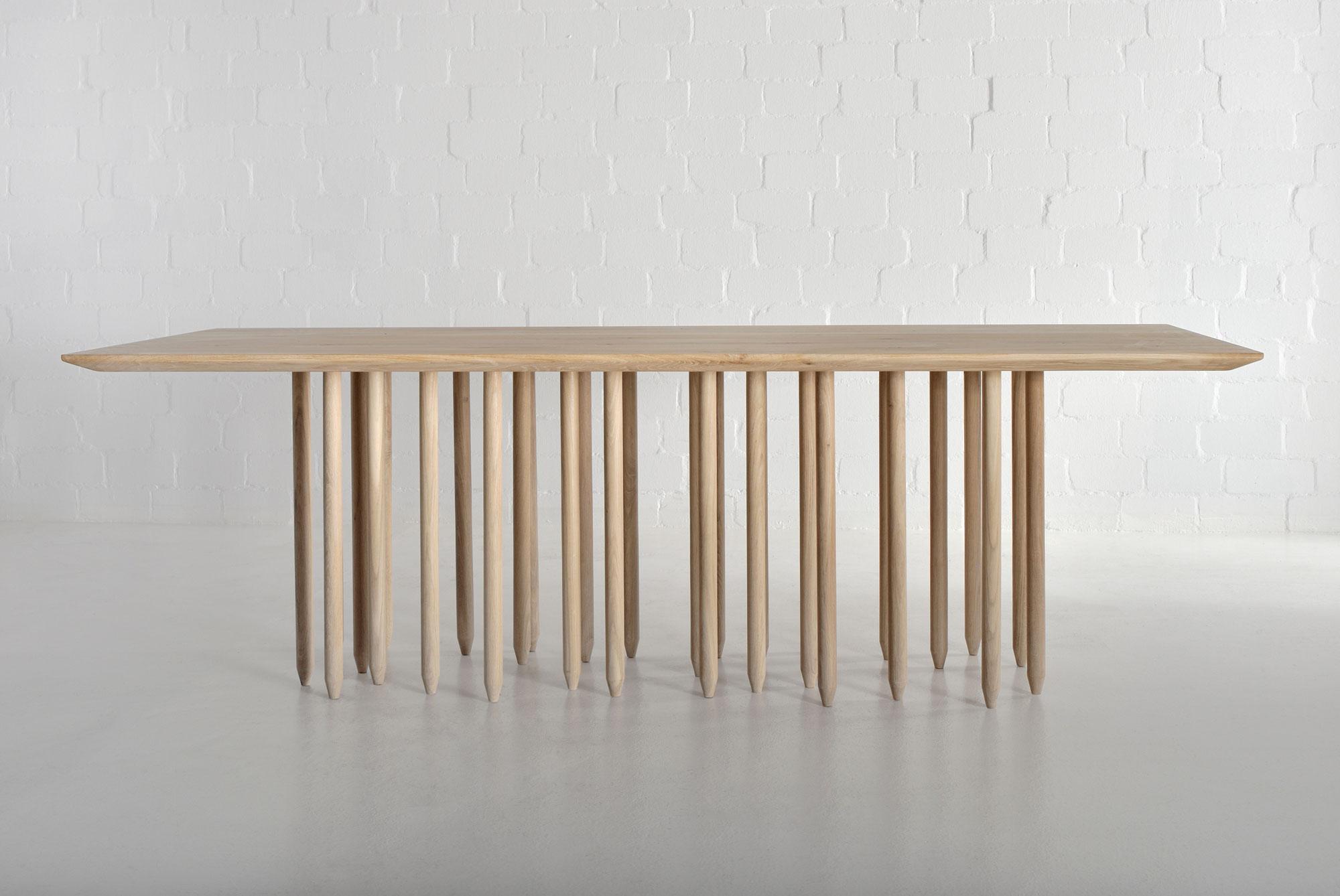 Designer massivholztisch stilus vitamin design for Massivholztisch design