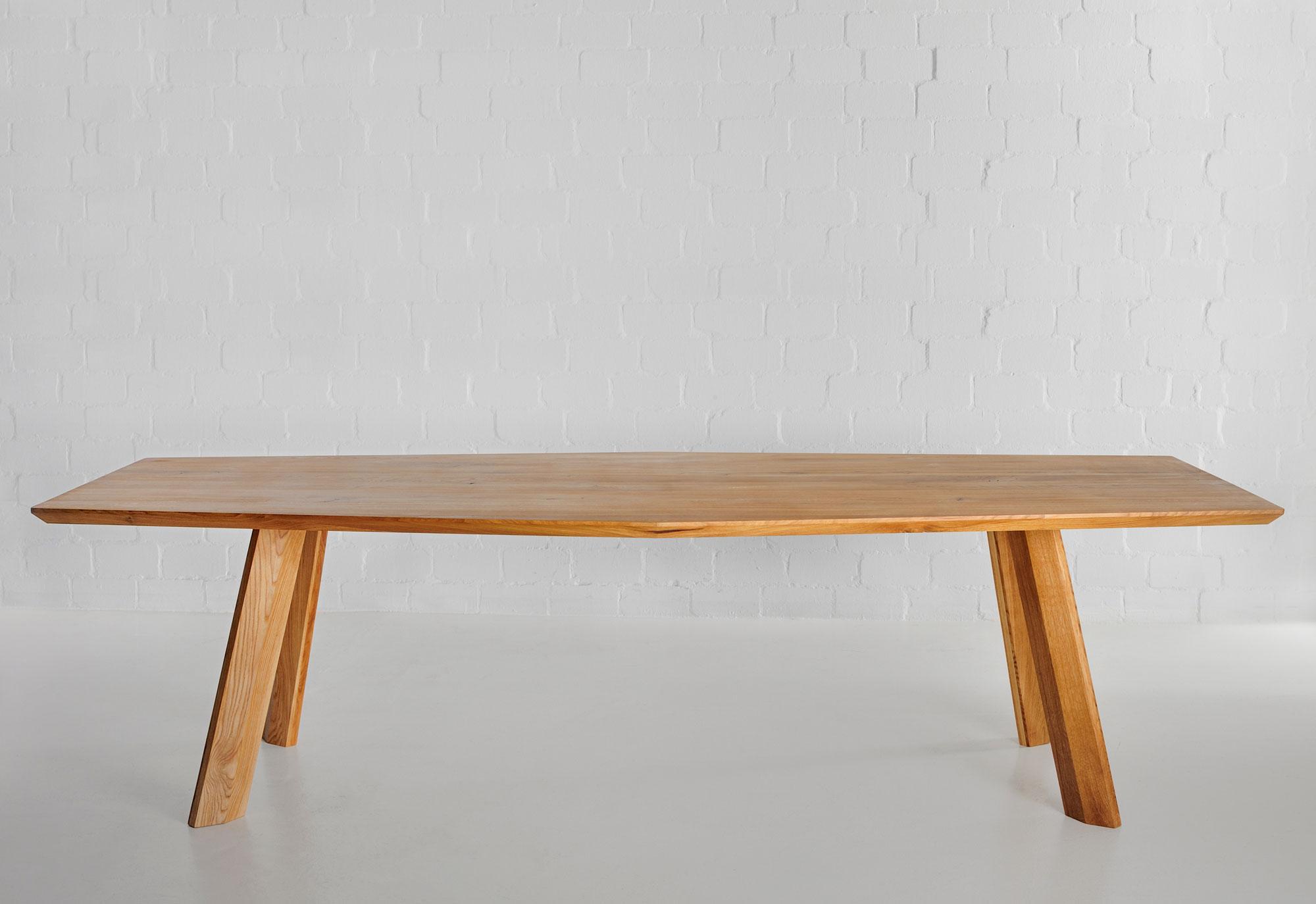 Designer Dining Table RHOMBI Custom Made In Solid Wood By Vitamin Design